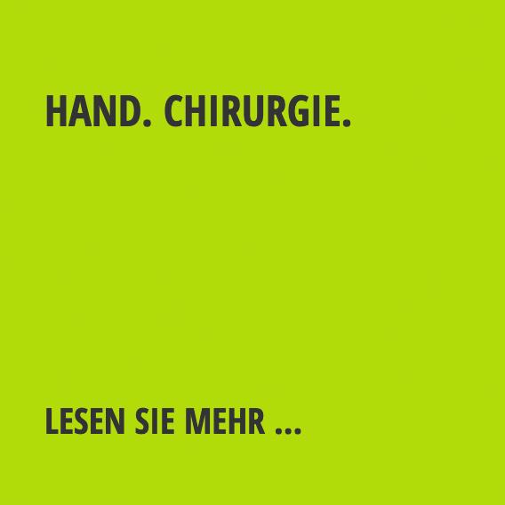 Hand. Chirurgie.